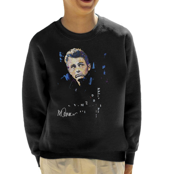 Sidney Maurer Original Portrait Of Actor James Dean Kid's Sweatshirt