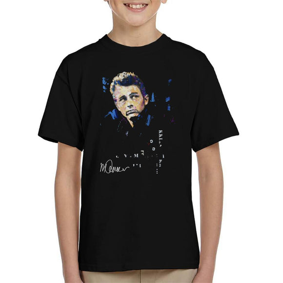 Sidney Maurer Original Portrait Of Actor James Dean Kid's T-Shirt