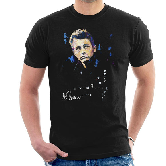 Sidney Maurer Original Portrait Of Actor James Dean Men's T-Shirt