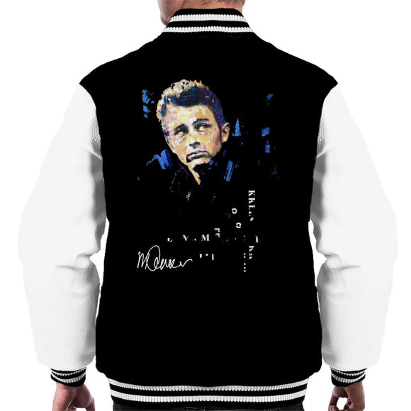 Sidney Maurer Original Portrait Of Actor James Dean Men's Varsity Jacket