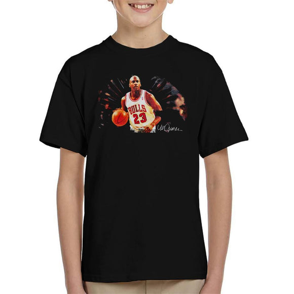 Sidney Maurer Original Portrait Of Basketballer Michael Jordan Kid's T-Shirt