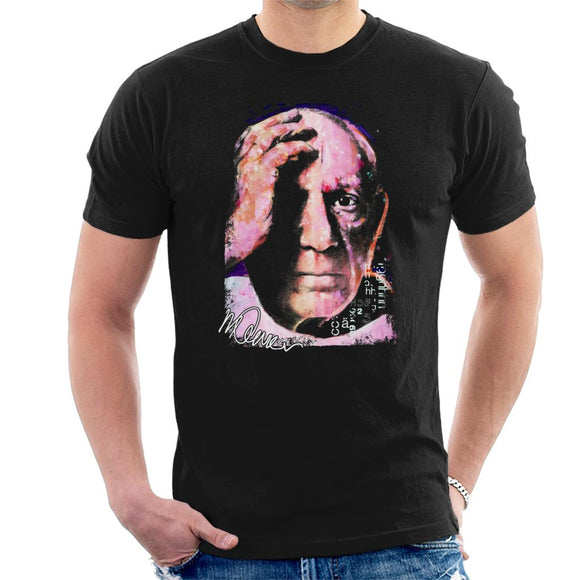 Sidney Maurer Original Portrait Of Pablo Picasso Close Up Men's T-Shirt