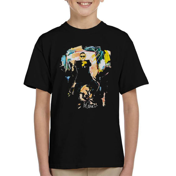 Sidney Maurer Original Portrait Of Psy Gangnam Style Kid's T-Shirt