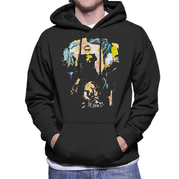 Sidney Maurer Original Portrait Of Psy Gangnam Style Men's Hooded Sweatshirt