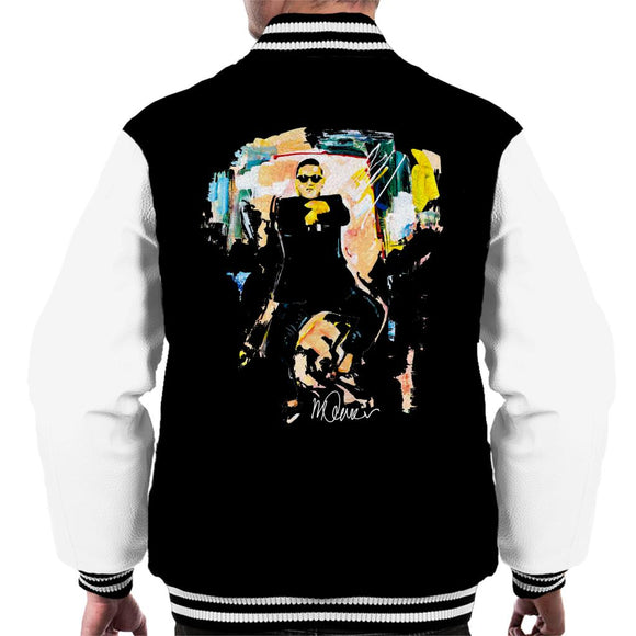 Sidney Maurer Original Portrait Of Psy Gangnam Style Men's Varsity Jacket