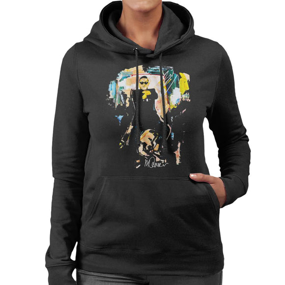 Sidney Maurer Original Portrait Of Psy Gangnam Style Women's Hooded Sweatshirt
