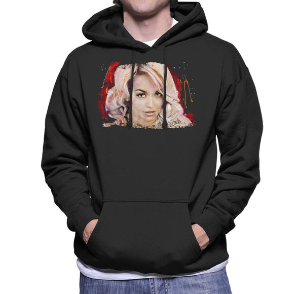 Sidney Maurer Original Portrait Of Rita Ora Pink Hair Men's Hooded Sweatshirt