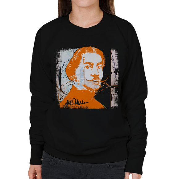 Sidney Maurer Original Portrait Of Artist Salvador Dali Women's Sweatshirt