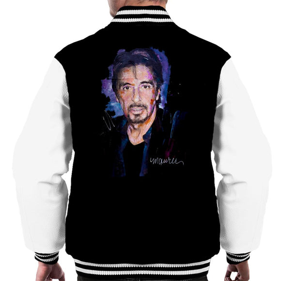 Sidney Maurer Original Portrait Of Al Pacino Goatee Men's Varsity Jacket
