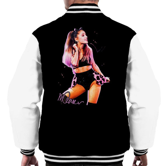 Sidney Maurer Original Portrait Of Ariana Grande Cat Ears Men's Varsity Jacket
