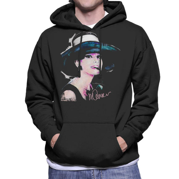 Sidney Maurer Original Portrait Of Audrey Hepburn Large Hat Men's Hooded Sweatshirt