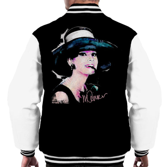 Sidney Maurer Original Portrait Of Audrey Hepburn Large Hat Men's Varsity Jacket