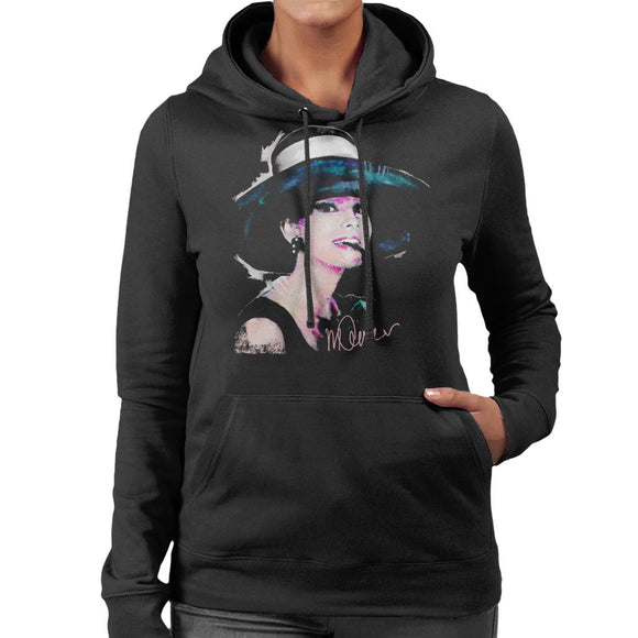 Sidney Maurer Original Portrait Of Audrey Hepburn Large Hat Women's Hooded Sweatshirt
