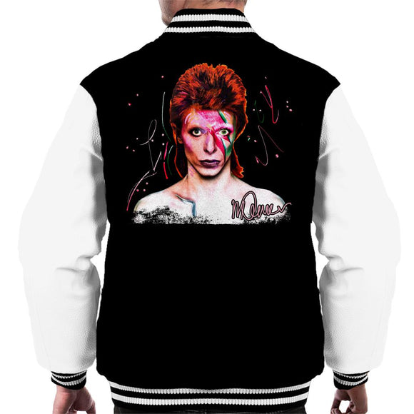 Sidney Maurer Original Portrait Of David Bowie Aladdin Sane Men's Varsity Jacket