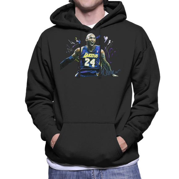 Sidney Maurer Original Portrait Of Kobe Bryant Lakers Jersey Men's Hooded Sweatshirt