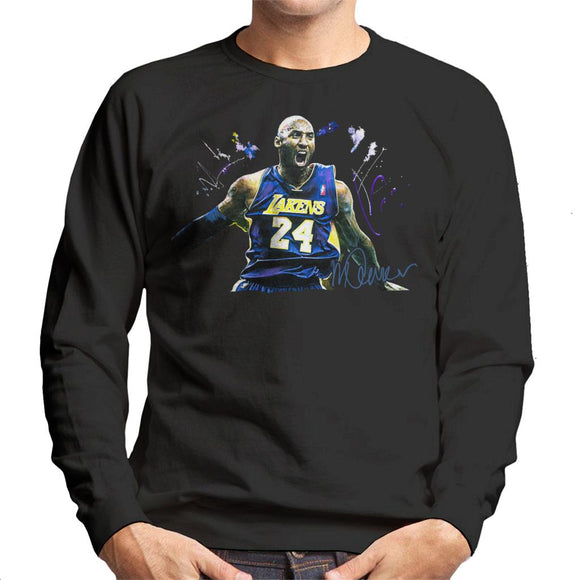 Sidney Maurer Original Portrait Of Kobe Bryant Lakers Jersey Men's Sweatshirt