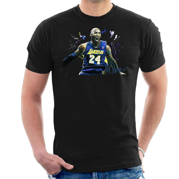 Sidney Maurer Original Portrait Of Kobe Bryant Lakers Jersey Men's T-Shirt