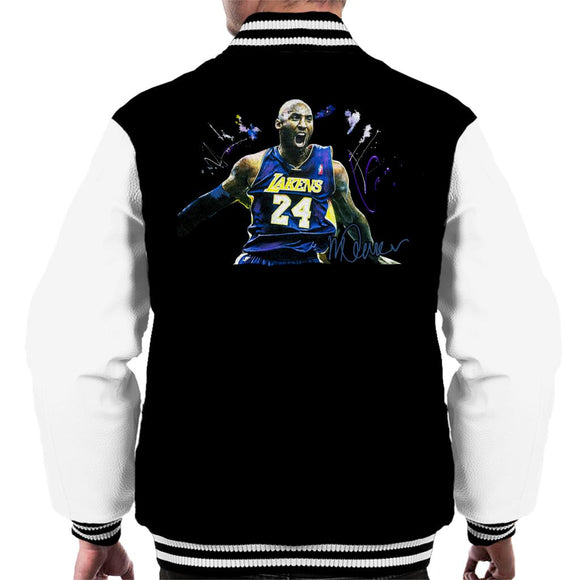 Sidney Maurer Original Portrait Of Kobe Bryant Lakers Jersey Men's Varsity Jacket