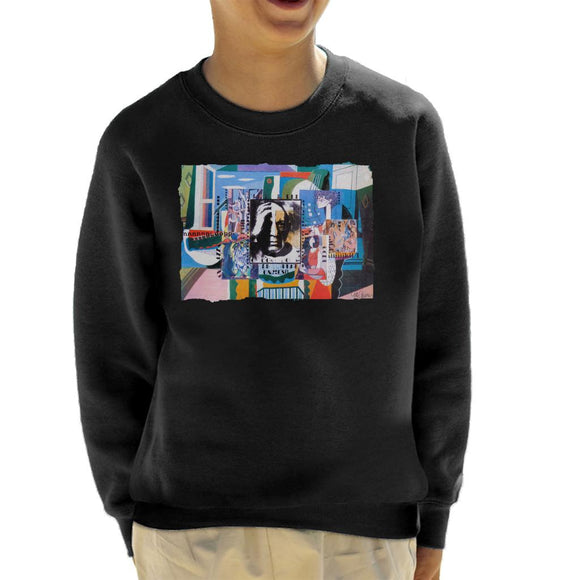 Sidney Maurer Original Portrait Of Pablo Picasso With Artwork Kid's Sweatshirt