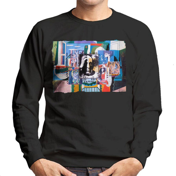Sidney Maurer Original Portrait Of Pablo Picasso With Artwork Men's Sweatshirt