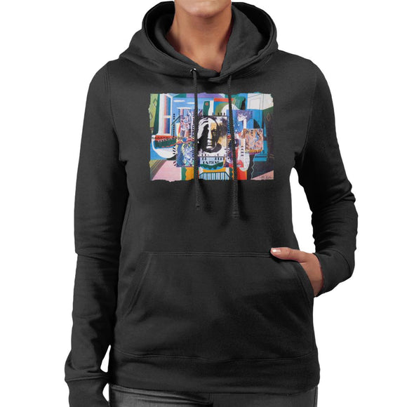 Sidney Maurer Original Portrait Of Pablo Picasso With Artwork Women's Hooded Sweatshirt