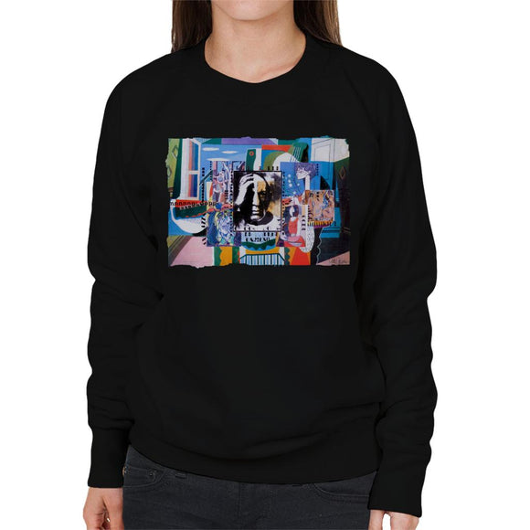 Sidney Maurer Original Portrait Of Pablo Picasso With Artwork Women's Sweatshirt