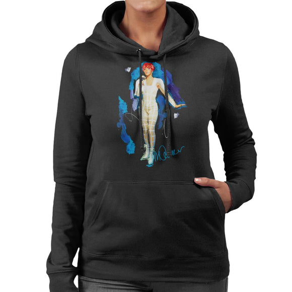Sidney Maurer Original Portrait Of Rihanna Cut Out Outfit Women's Hooded Sweatshirt