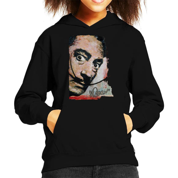 Sidney Maurer Original Portrait Of Salvador Dali Moustache Kid's Hooded Sweatshirt