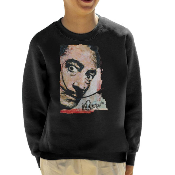 Sidney Maurer Original Portrait Of Salvador Dali Moustache Kid's Sweatshirt
