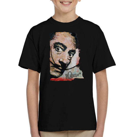 Sidney Maurer Original Portrait Of Salvador Dali Moustache Kid's T-Shirt