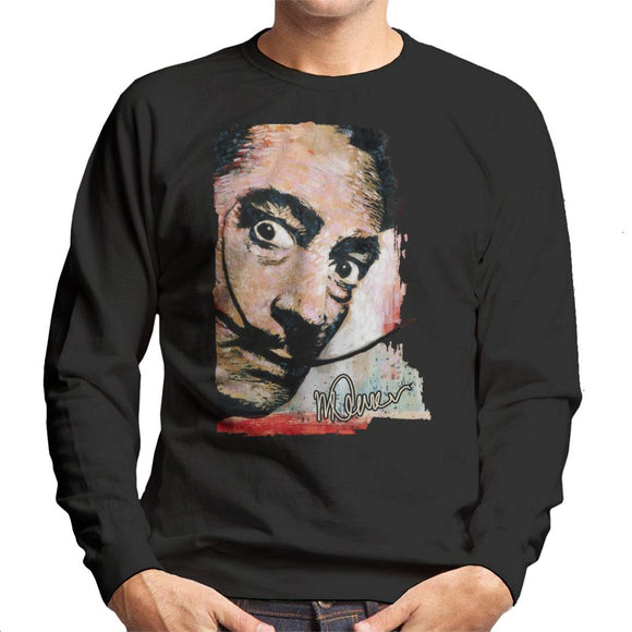 Sidney Maurer Original Portrait Of Salvador Dali Moustache Men's Sweatshirt