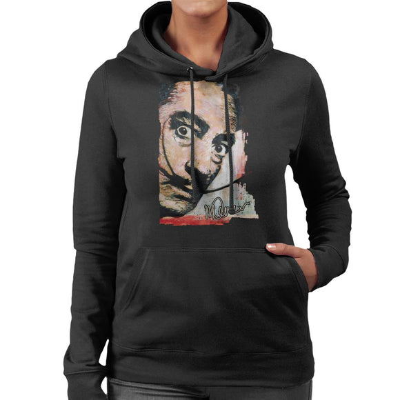 Sidney Maurer Original Portrait Of Salvador Dali Moustache Women's Hooded Sweatshirt