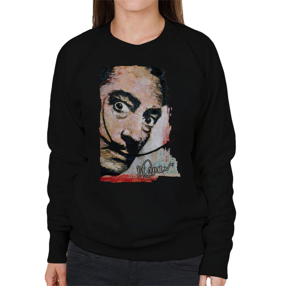 Sidney Maurer Original Portrait Of Salvador Dali Moustache Women's Sweatshirt