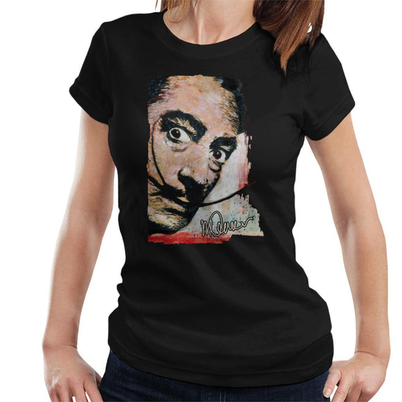 Sidney Maurer Original Portrait Of Salvador Dali Moustache Women's T-Shirt