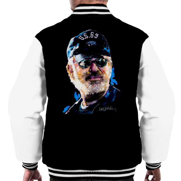 Sidney Maurer Original Portrait Of Steven Spielberg Baseball Cap Glasses Men's Varsity Jacket
