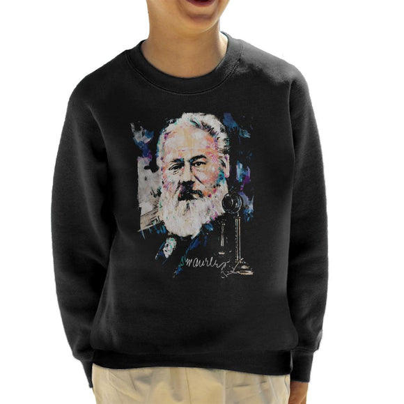 Sidney Maurer Original Portrait Of Alexander Graham Bell Kid's Sweatshirt
