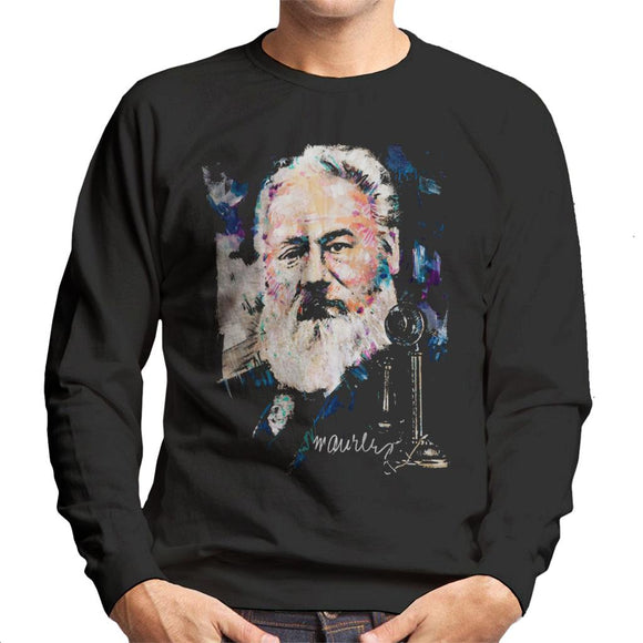 Sidney Maurer Original Portrait Of Alexander Graham Bell Men's Sweatshirt