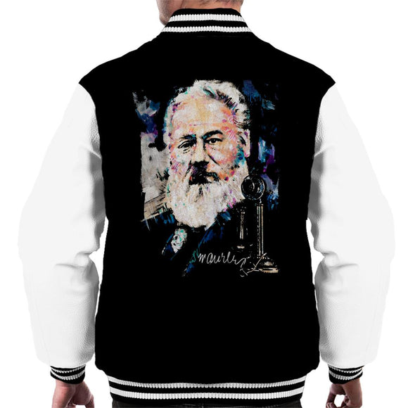 Sidney Maurer Original Portrait Of Alexander Graham Bell Men's Varsity Jacket