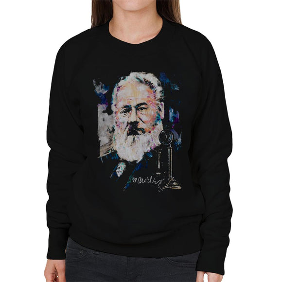 Sidney Maurer Original Portrait Of Alexander Graham Bell Women's Sweatshirt