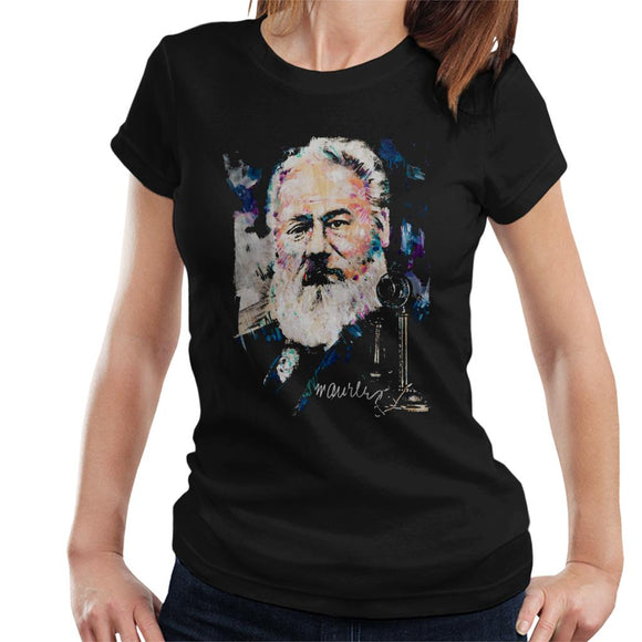 Sidney Maurer Original Portrait Of Alexander Graham Bell Women's T-Shirt