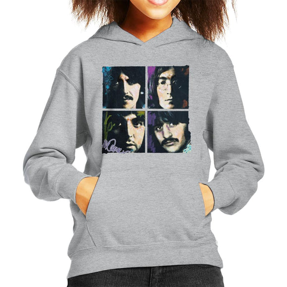Sidney Maurer Original Portrait Of John Paul George Ringo Beatles Kid's Hooded Sweatshirt