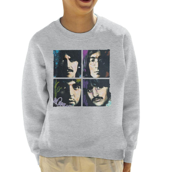 Sidney Maurer Original Portrait Of John Paul George Ringo Beatles Kid's Sweatshirt