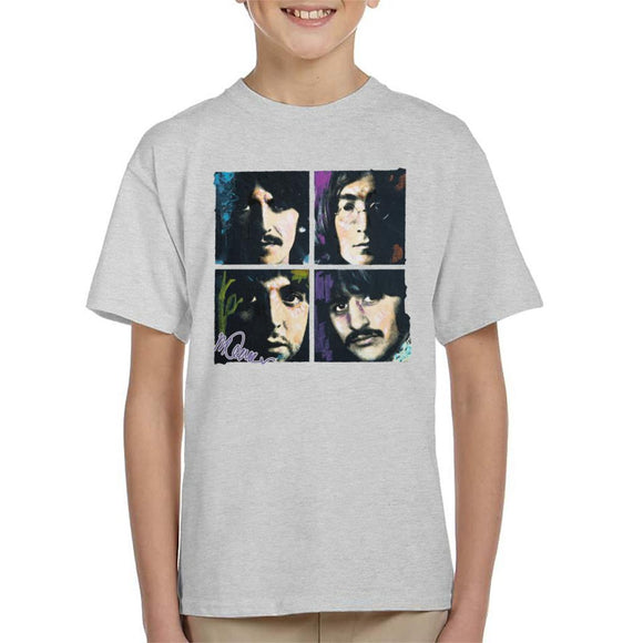 Sidney Maurer Original Portrait Of John Paul George Ringo Beatles Kid's T-Shirt