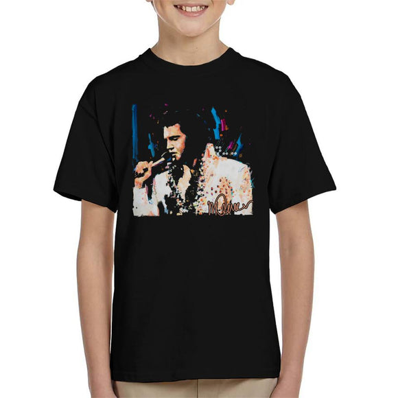 Sidney Maurer Original Portrait Of Singer Elvis Presley Kid's T-Shirt