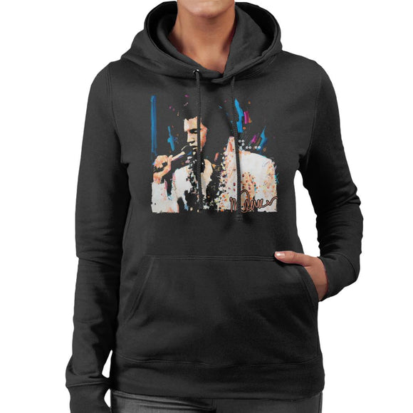 Sidney Maurer Original Portrait Of Singer Elvis Presley Women's Hooded Sweatshirt