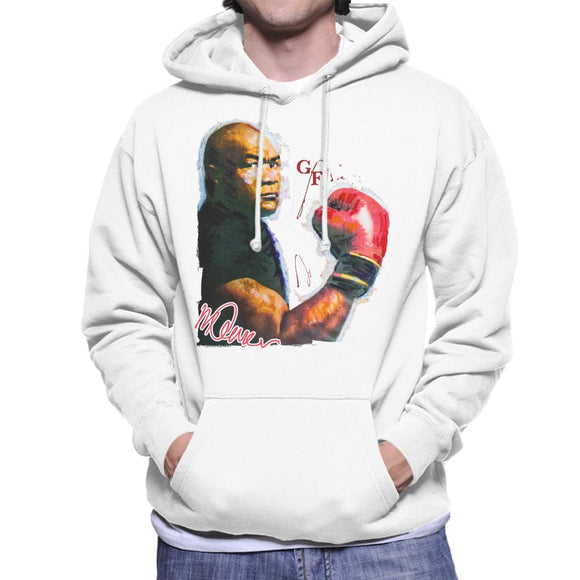 Sidney Maurer Original Portrait Of Boxer George Foreman Men's Hooded Sweatshirt