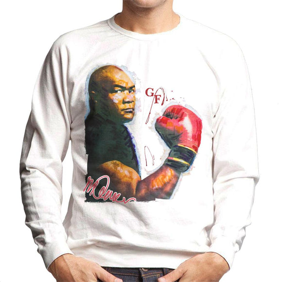 Sidney Maurer Original Portrait Of Boxer George Foreman Men's Sweatshirt