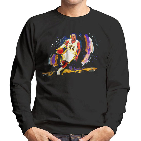 Sidney Maurer Original Portrait Of Basketballer Kobe Bryant Men's Sweatshirt