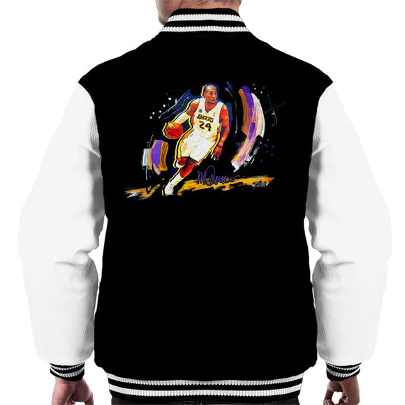 Sidney Maurer Original Portrait Of Basketballer Kobe Bryant Men's Varsity Jacket