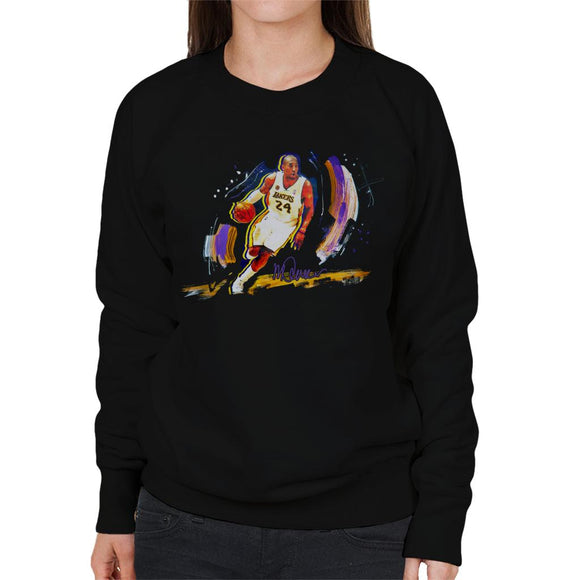 Sidney Maurer Original Portrait Of Basketballer Kobe Bryant Women's Sweatshirt